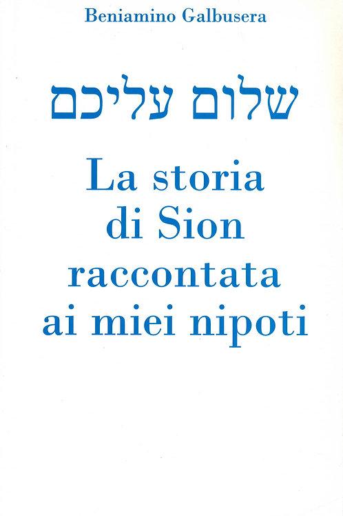 Libro di Beniamino Galbusera: La Storia di Sion raccontata ai miei nipotini