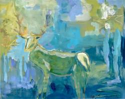 Blue Elk 16 x 20 Acrylic $325
