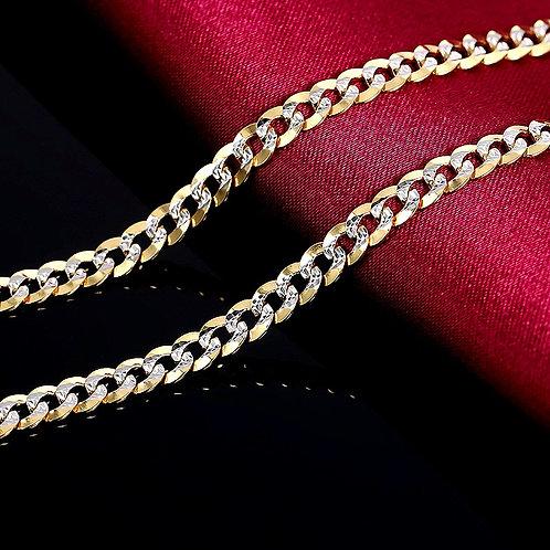 CRYPTOR GLOBAL 18K Pure Gold  CUBANS Men's Necklace