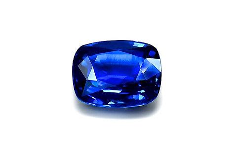 CRYPTOR GLOBAL ™️©️ Natural Blue Sapphire AIGS Certificate 5.99ct. Cushion Cut