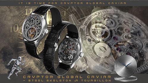 CRYPTOR GLOBAL CAVIAR STEEL SKELETON & TOURBILLON