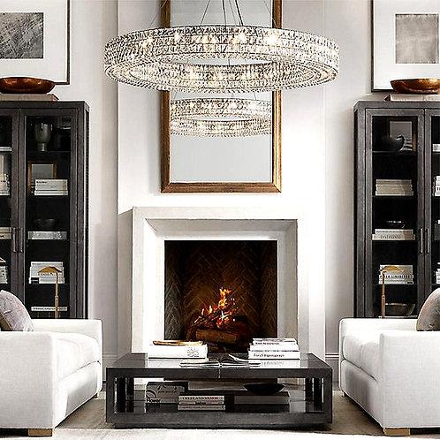 CRYPTOR GLOBAL ™️©️ Crystal Suspension Pendant Lights - France Golden Luxury