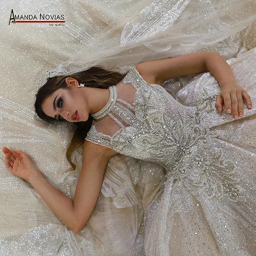 Luxury CRYPTOR GLOBAL  Wedding Dress  Long Lace Veil