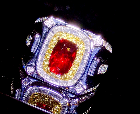 CRYPTOR GLOBAL™️©️ MEDICI 18K 2.01ct Natural Unheated Pigeon Blood Red Ruby Ring