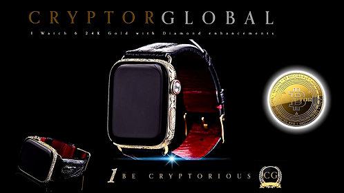 CRYPTOR GLOBAL ™️©️ GOLDEN APPLE 24K IWATCH 6