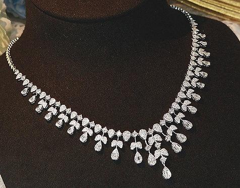 "CRYPTOR GLOBAL ™️©️ ""GRACE"" 18K WG Genuine Diamond 6.50CT Luxury Necklace"