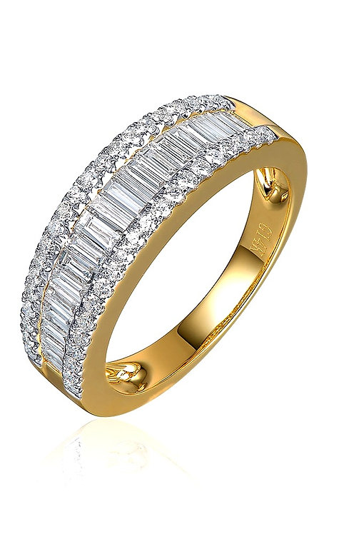 CRYPTOR GLOBAL ™️©️ 14K Eternity 1.1ctw Natural Baguette Diamond Ring
