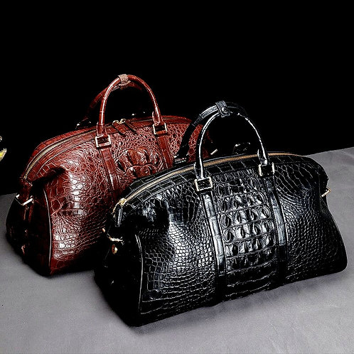 CRYPTOR GLOBAL ™️©️ Executive Luxury Crocodile Travel Bag