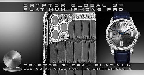 CRYPTOR GLOBAL 5G PRECIOUS APPLE PLATINUM IPHONE 12 PRO MAX