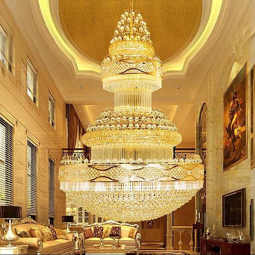 CRYPTOR GLOBAL ™️©️Luxury- Gold LED Chandelier Art Deco Design