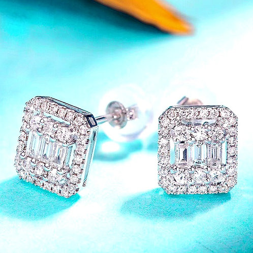 CRYPTOR GLOBAL ™️©️ 18K WG Diamond Earrings 4.5mm 0.4carat Each
