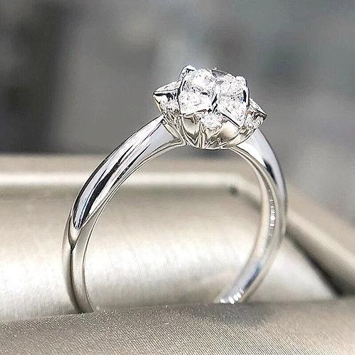 CRYPTOR GLOBAL GIA 14k White Gold Diamond Ring  0.3ct E/vs Natural Diamond
