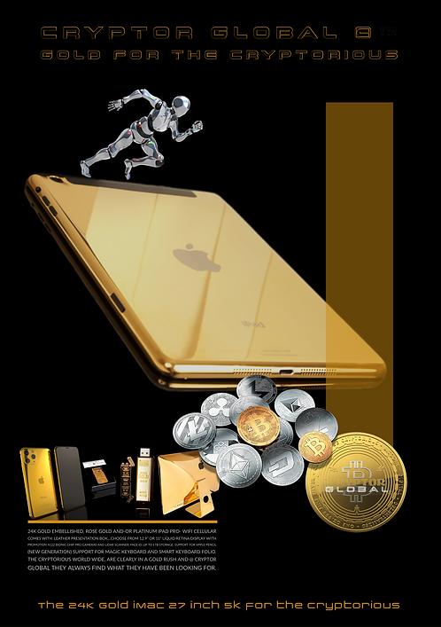 CRYPTOR GLOBAL GOLDGENIE 24K GOLD iPad Pro
