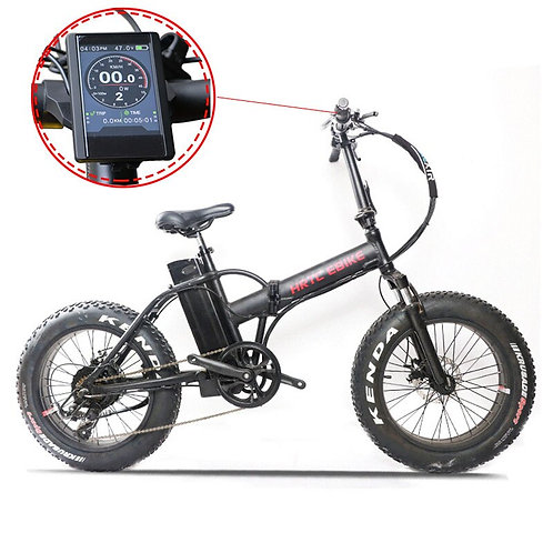 CRYPTOR GLOBAL 20 in.  Elec. Bicycle 48V 500W 7 Speed Fold and go functionality