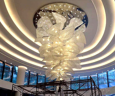 CRYPTOR GLOBAL ™️©️ BACCI Flower-Shaped LED Crystal Chandelier