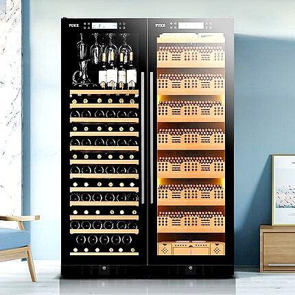 CRYPTOR GLOBAL ™️©️ Ambassador Led lit  Cigar Humidor & Wine Cabinet