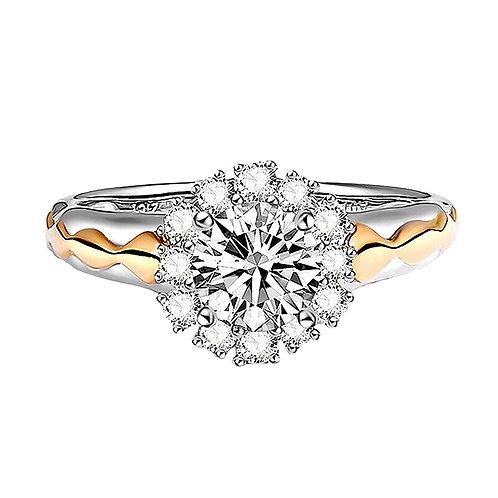 CRYPTOR GLOBAL ™️©️Diamond Ring Solid 14K YG with  0.3 CT Natural Diamonds