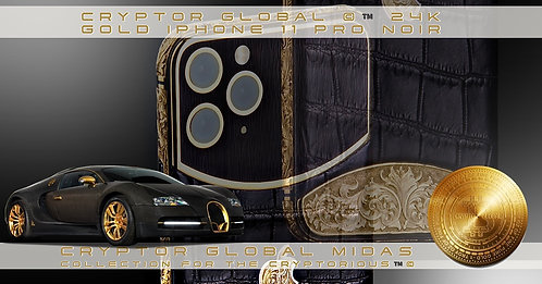CRYPTOR GLOBAL 24ct Gold iPhone 11 Pro Superior Noir Edition