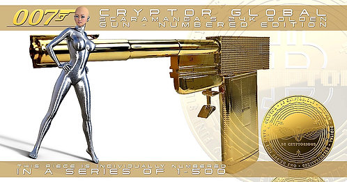 CRYPTOR GLOBAL™️©️SCARAMANGA the 24k Golden Gun