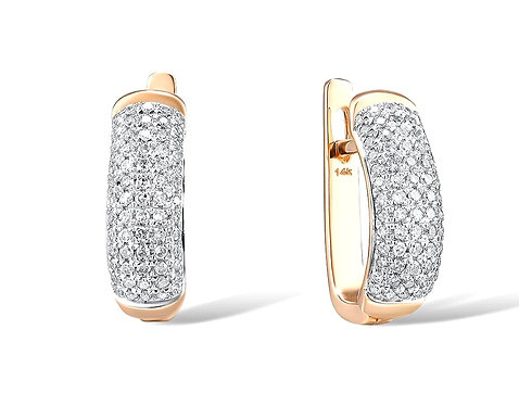 CRYPTOR GLOBAL ™️©️ Exquisite 14K 585 Rose Gold Earrings