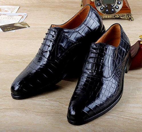 CRYPTOR GLOBAL Crocodile Leather Men Shoes