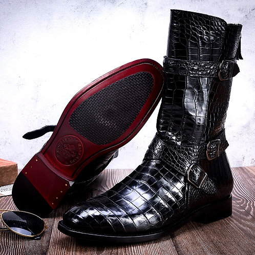 CRYPTOR GLOBAL ™️©️ ASPEN Luxury Genuine Crocodile Boots for the Rich and Famous