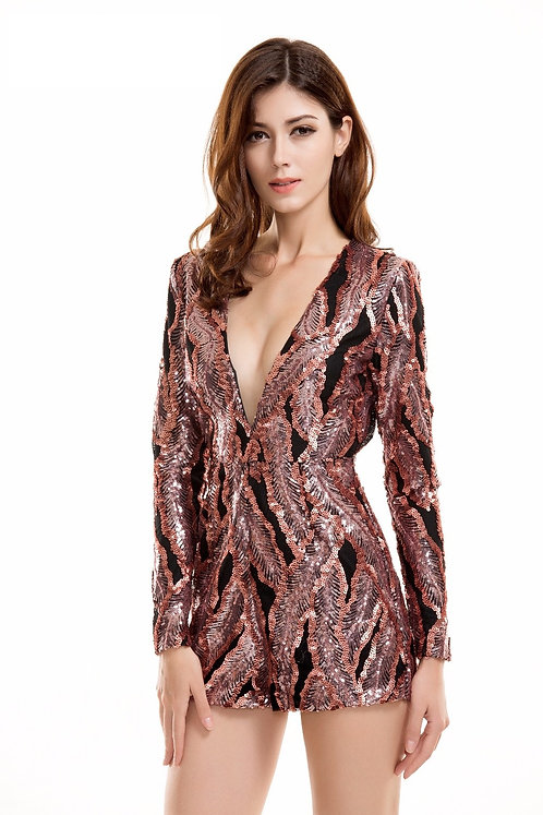 CRYPTOR GLOBAL ™️©️​​​​​​​Evelyn Belluci Sequin Playsuit