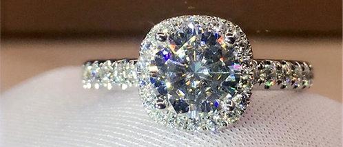 CRYPTOR GLOBAL ™️©️18K Gold Ring D Color VVS- Moissanite Diamond Ring