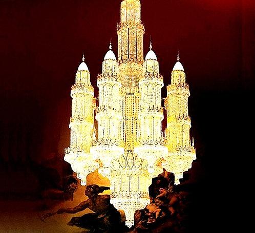 CRYPTOR GLOBAL ™️©️ CASA DECOR Abu Dhabi Gold Chandelier