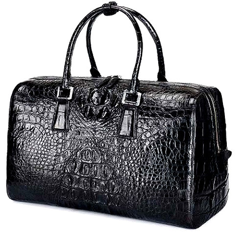 CRYPTOR GLOBAL™️©️  Luxurious Genuine Crocodile Skin travel bag