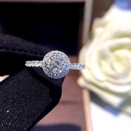 CRYPTOR GLOBAL ™️©️ Natural Genuine Round  Diamond 18K Gold Ring