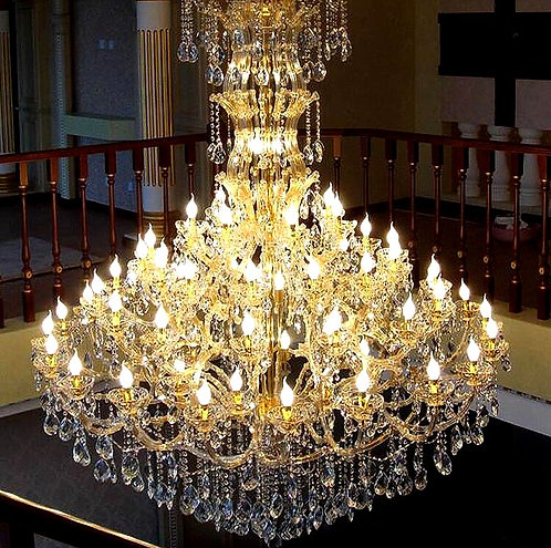 CRYPTOR GLOBAL ™️©️ ROMA Luxuriously Flawless Crystal Chandelier