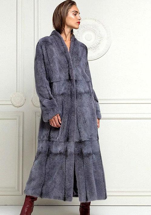 CRYPTOR GLOBAL ™️©️ Luxury Genuine Real Mink Fur Coat 130 cm Long