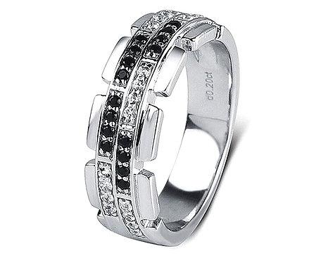CRYPTOR GLOBAL ™️©️ Distinctive Exclusive Natural Diamond 14K 585 WG  Ring