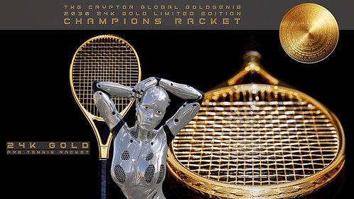CRYPTOR GLOBAL GoldGenie 24K Gold Champions Racket