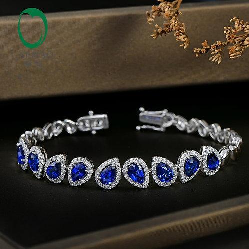 CRYPTOR GLOBAL ™️©️ WINDSOR the 5.71CT WG genuine Sapphire & Diamond bracelet