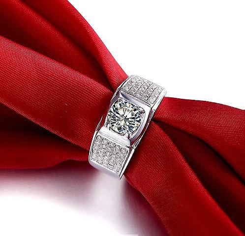 CRYPTOR GLOBAL ™️©️ Exclusive 14K WG 1CT Diamond Semi Mount Ring