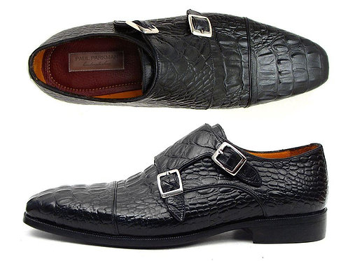 CRYPTOR GLOBAL Paul Parkman Collection Men's Black Crocodile Embossed