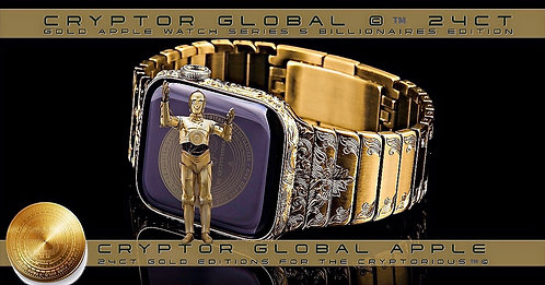 CRYPTOR GLOBAL PRESIDENTIAL 24K Gold Apple Watch SERIES 6