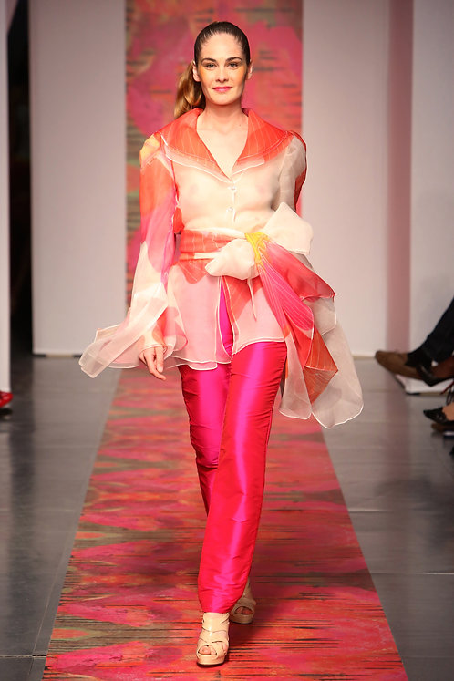 Heather Jones Pink Orchid Pants Suit