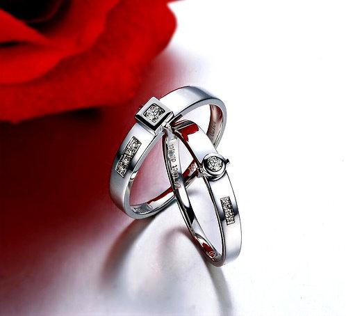 CRYPTOR GLOBAL ™️©️ Matrimony The I8K White Gold Eternal Love Ring Set