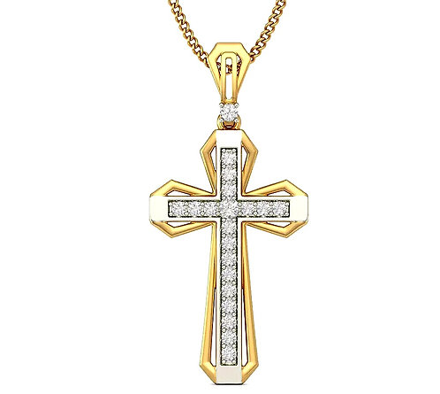 CRYPTOR GLOBAL ™️©️ 14K Two Tone YG &  WG Religious Necklace