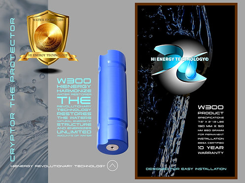 CRYPTOR GLOBAL™️©️ HiEnergy Technology W300 Water Harmonizer