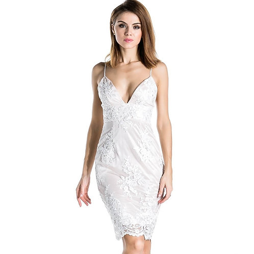 CRYPTOR GLOBAL ™️©️Sexy White Lace Halter Dress
