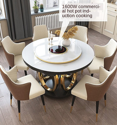 CRYPTOR GLOBAL ™️©️ Manhattan  Telescopic Rotating Dining Table with Chairs