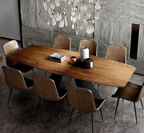 CRYPTOR GLOBAL ™️©️ Manhattan Solid Wood Dining Room Set with 8 Chairs