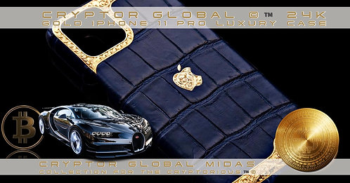 CRYPTOR GLOBAL 24CT GOLD CLASSIC BLUE CASE