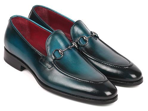 Paul Parkman Men's Horsebit Loafers Blue (ID#63HB91)