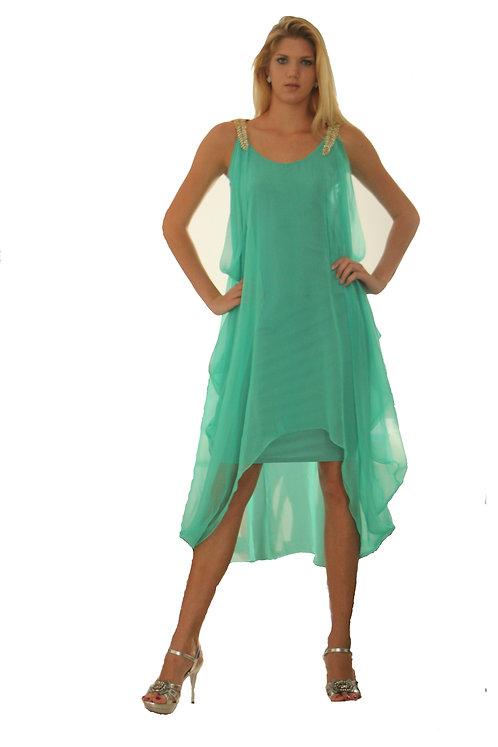 Heather Jones Jewel Shoulder Dress