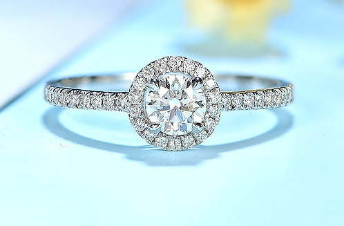 CRYPTOR GLOBAL ™️©️ 100% Natural Round Diamonds 10K WG Ring